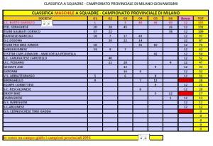 Campionato Provinciale Giovanissime Squadre Maschile per categoria