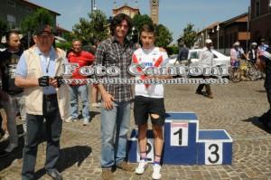 Andrea Bagioli, CP Allievi con l'Assessore allo Sport di Rescaldina