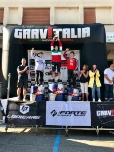 Davide Cappello con la maglia tricolore di Campione Italiano