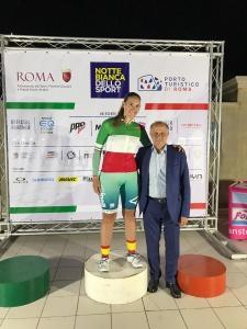 Martina Biolo in maglia Tricolore di Campionessa Italiana 2019