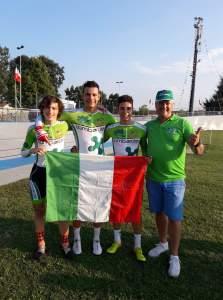 Samuele Quaranta col Team Lombardia vincitore del Campionato Italiano team Sprint
