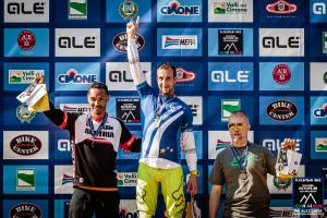 Paolo Alleva sul podio, neo Campione Europeo