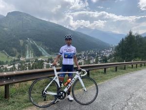 Davide Busuito con la maglia di Campione Europeo