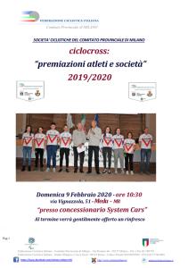 Frontespizio Locandina Premiazioni Ciclocross_001
